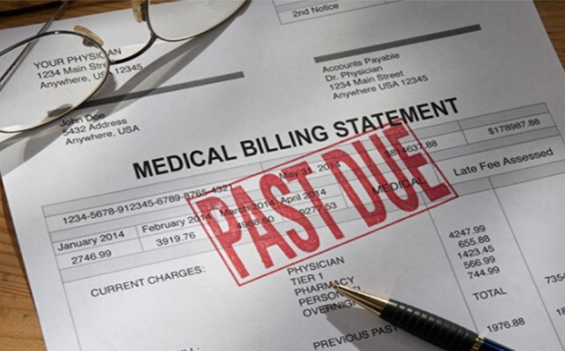 car accident attorney Miami - PAST DUE Medical Billing Settlement Statement